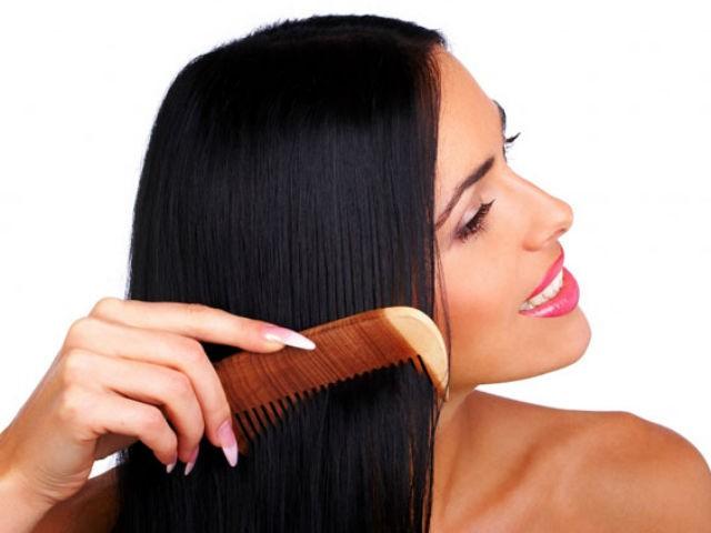 расчёсывание нормальных волос