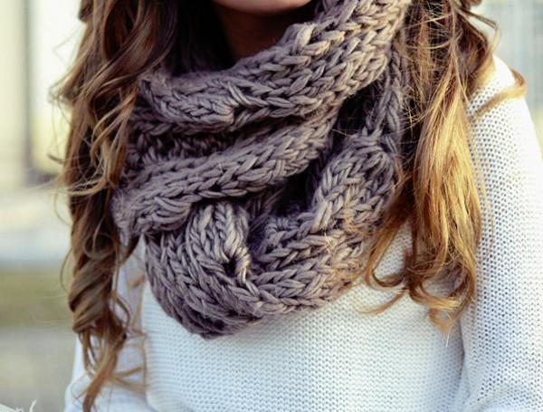 осень защита шея декольте шарф