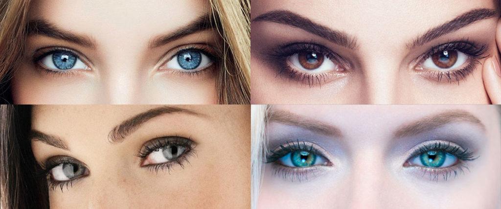 серьги под разный цвет глаз