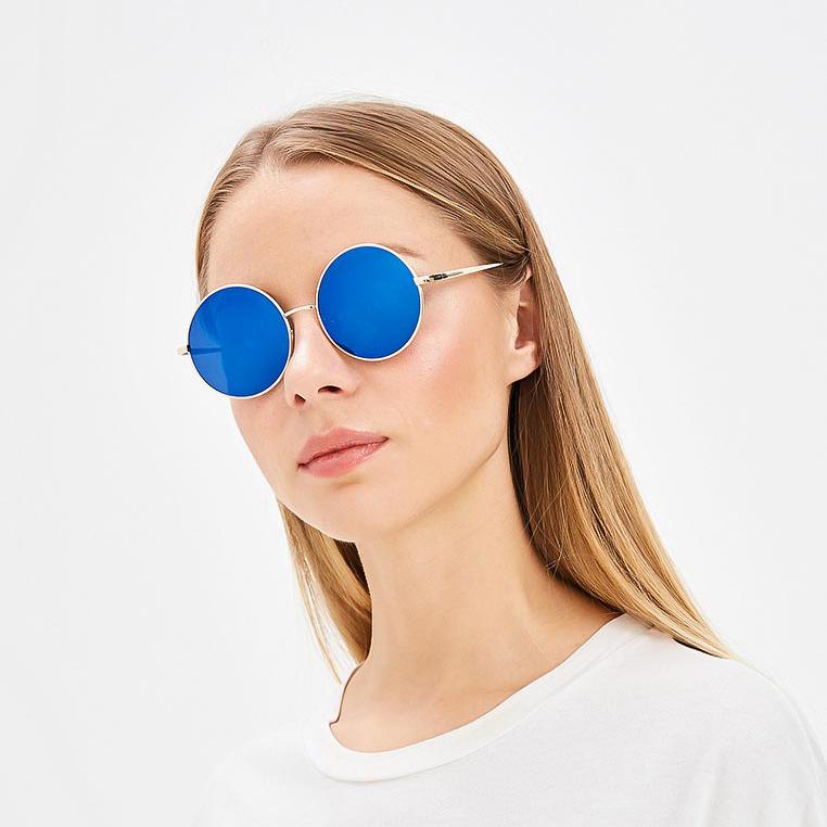 тишейды круглые очки синие линзы