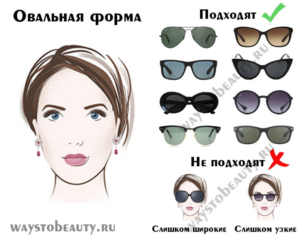 солнцезащитные очки для овальной формы лица