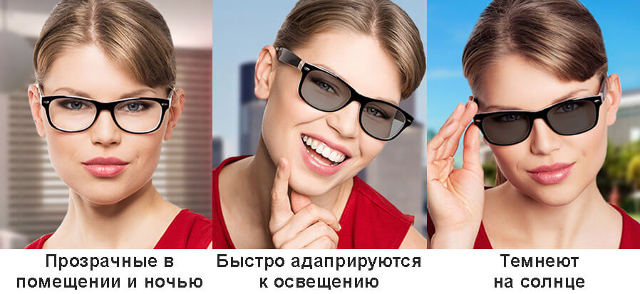 очки хамелеоны в зависимости от освещения